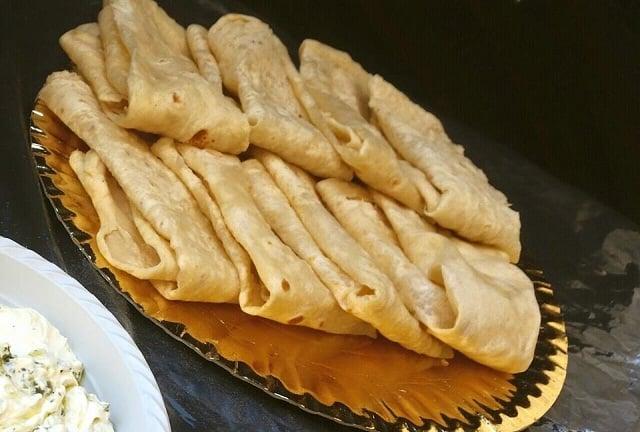 Druze pita with labaneh