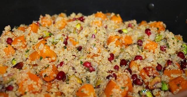 Quinoa and sweet potato salad