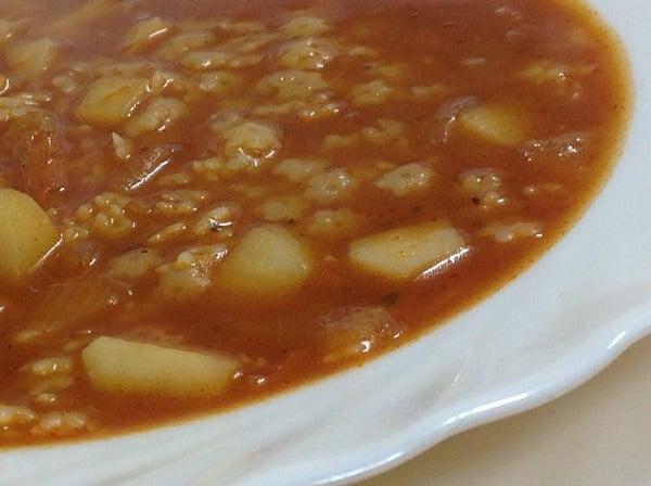 מרק פתיתים טוניסאי