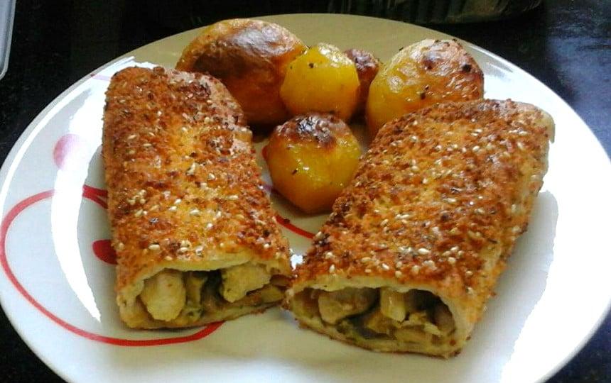 טורטיות במילוי חזה עוף