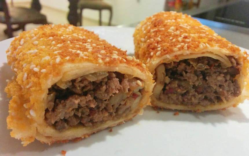 טורטיות במילוי בשר ופטריות