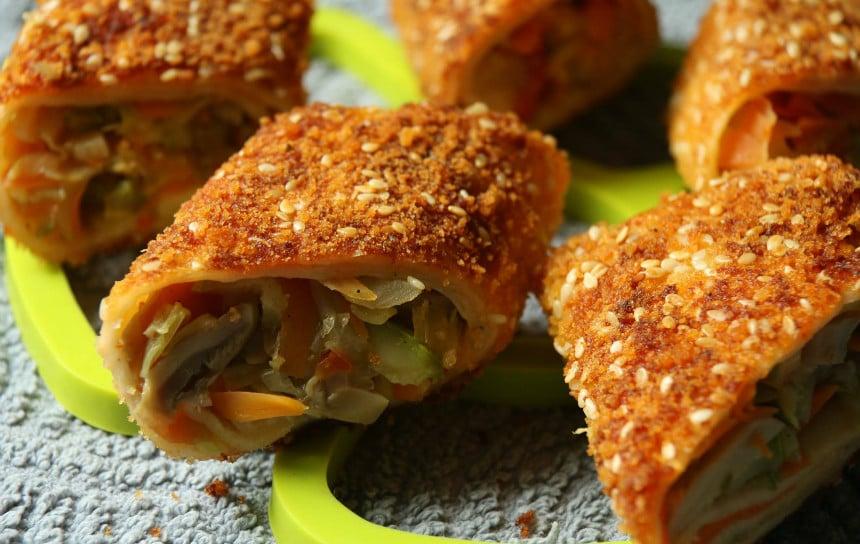 טורטיות במילוי ירקות מוקפצים