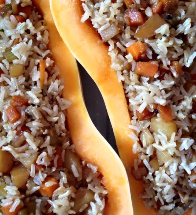 דלורית במילוי אורז מלא וירקות