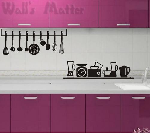 מדבקת כלי בישול תלויים למטבח