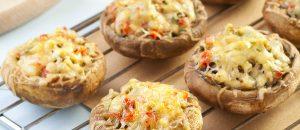 פטריות ממולאות: בשר, גבינות וגם צמחוני