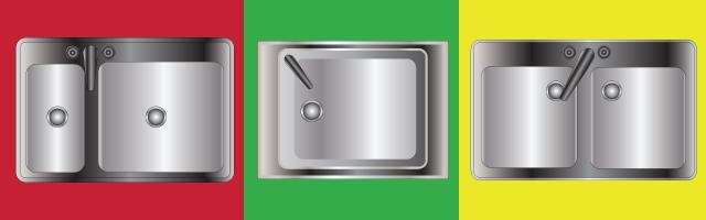צורות כיור מטבח