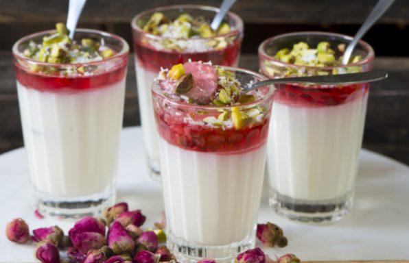 מלבי + סירופ ורדים • מתכון לקינוח הכי קיצי שיש