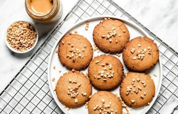 עוגיות חמאת בוטנים זריזות, טבעוניות ובריאות